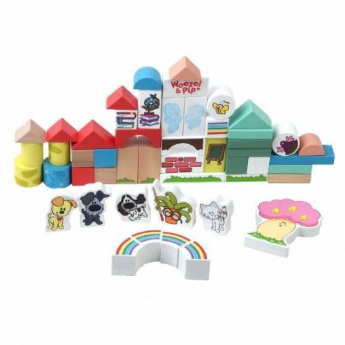 Rubo Toys holzklötze Woezel En Pip 4,5 cm 50 teilig