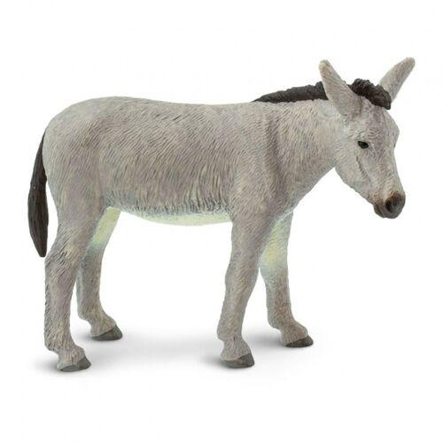 Safari nutztier Esel junior 11 cm Gummi grau