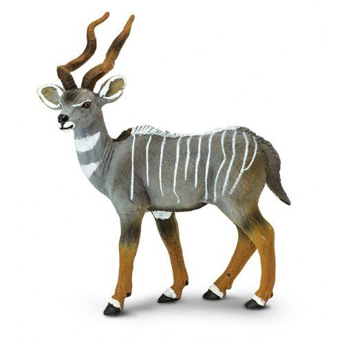 Safari antilope Kudu junior 9 cm grau/weiß/braun