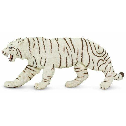 Safari spieltier bengalischer tiger junior 15 x 6,5 cm weiss/schwarz