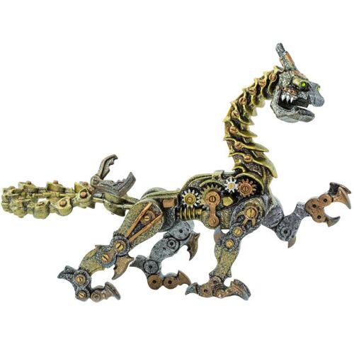 Safari spieltier Steampunk Drache junior 18 cm silber/gold