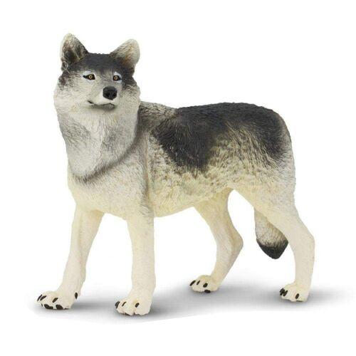 Safari wildtiere Wolf junior 12,5 cm grau