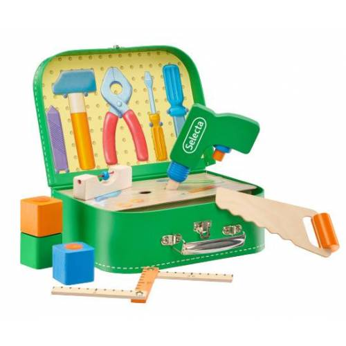 Selecta Spielzeug spielset Toolbox Jungen 25 cm grün 8 teilig
