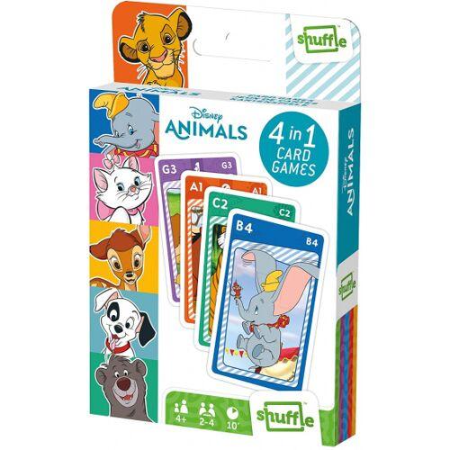 Shuffle kartenspiel 4 in 1 Disney Animals 56 x 87 mm Karton