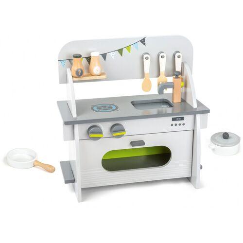 Small Foot holz Kinderküche weiß/grau 36 x 17 x 37 S