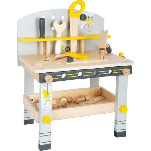 Small Foot werkbank mit Werkzeugen 52 cm Holz gelb/grau