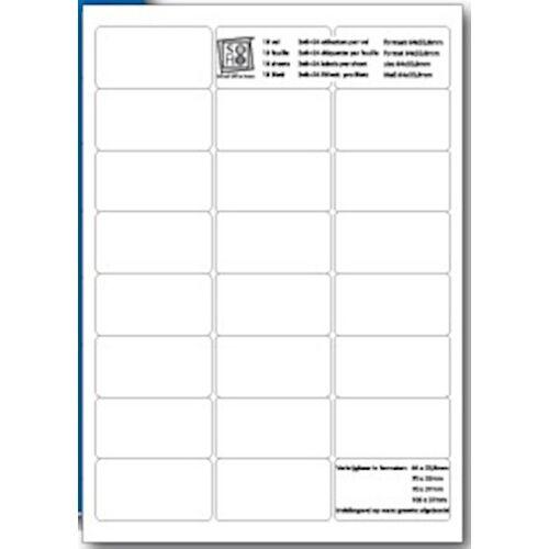 Soho etiketten 6,4 x 3,4 Papier weiß 240 Stück