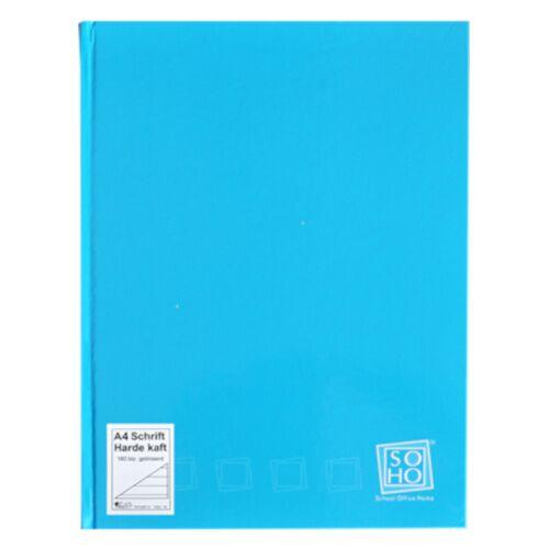 Soho notizbuch mit festem Einband A4 Papier blau