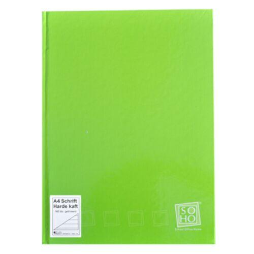 Soho notizbuch mit festem Einband A4 Papier grün