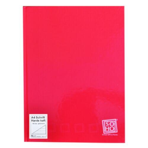 Soho notizbuch mit festem Einband A4 Papier rot