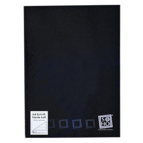 Soho notizbuch mit festem Einband A4 Papier schwarz