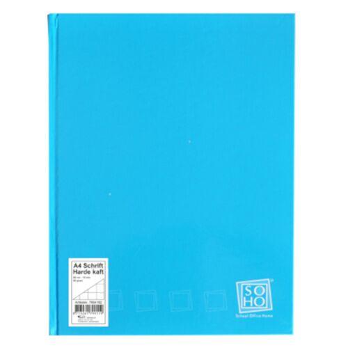 Soho notizbuch kariert mit festem Einband A4 Papier blau