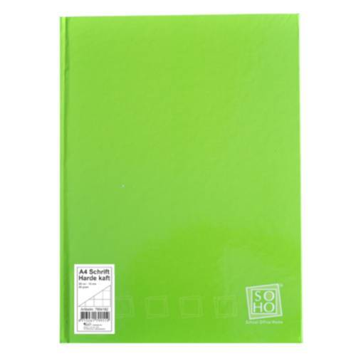 Soho notizbuch kariert mit festem Einband A4 Papier grün