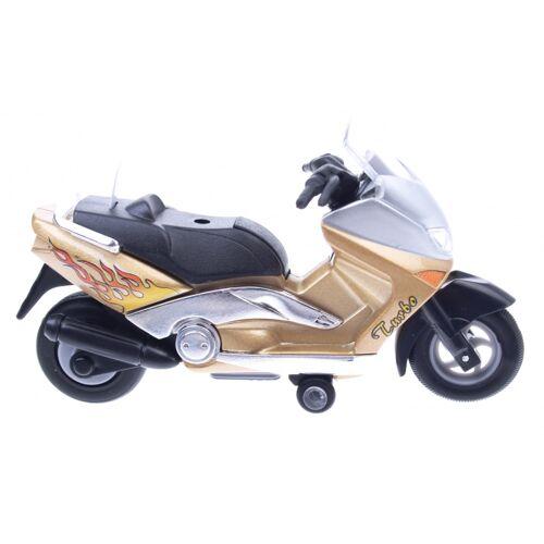 Goki Metal Motor: Motorrad 12,5 cm Gold