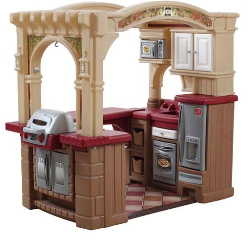 Step2 Spielzeugküche offene Küche und Grill 119 cm braun