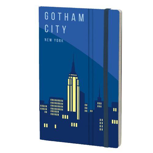Stifflexible notizbuch New York 13 x 21 cm Papier blau