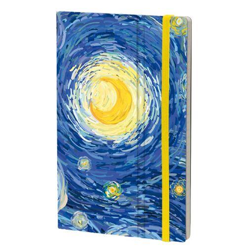 Stifflexible notizbuch von Gogh 13 x 21 cm Papier blau