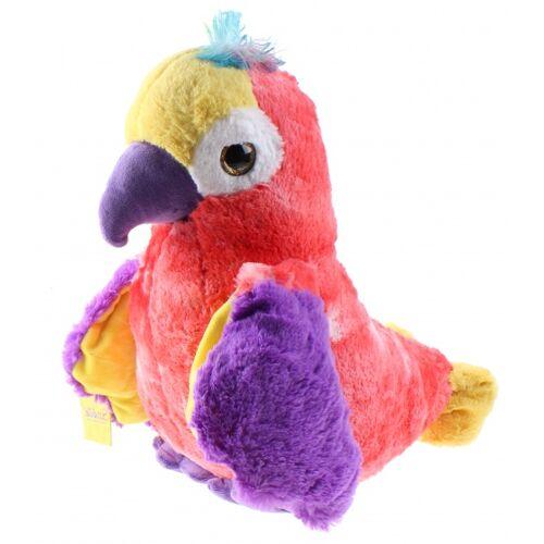 Sunkid papagei Big EyeJunior 43 cm Plüsch rosa/violett/gelb