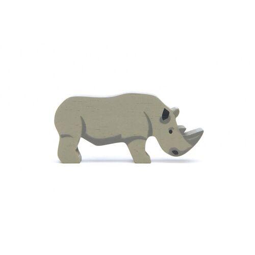 Tender Leaf Toys safari rhino junior 11,6 cm Holz grau