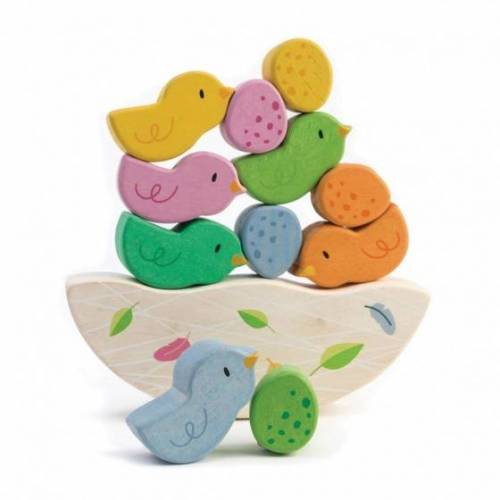Tender Toys balancierender Vogelkinder Holz Junior 12 teilig