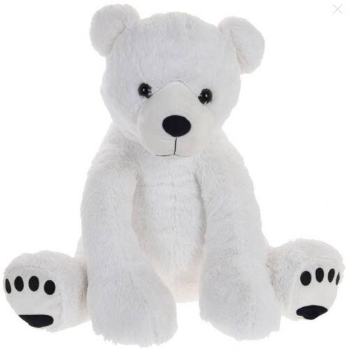 Tender Toys teddybär sitzend Junior 74 cm Plüsch weiß