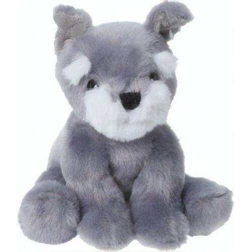 Tender Toys kuscheliger Hund 14 cm grau