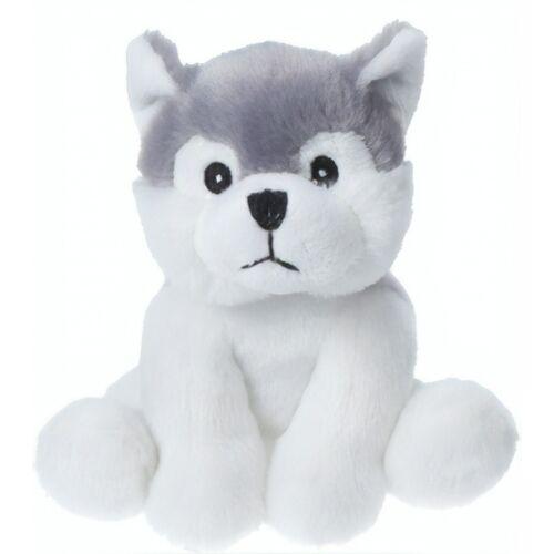 Tender Toys kuscheliger Hund 14 cm weiß