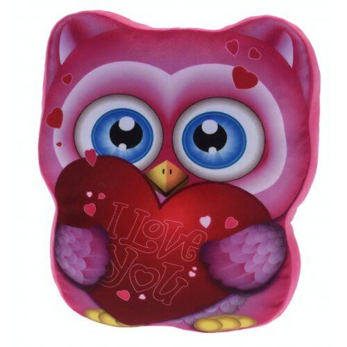 Tender Toys kissen Eule 37 cm rosa