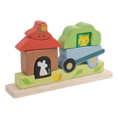 Tender Toys magnetisches Puzzle Gartenholz Junior 23 x 44 x 12,5 cm