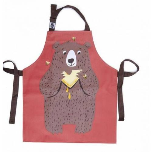 ThreadBear baumwollschürze 50 x 42 cm mehrfarbiger Bär