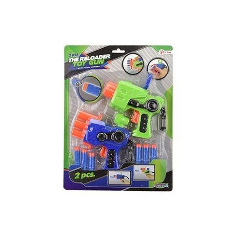 Toi-Toys Toi Toys schaumstoffpistole mit Schaumstoffkugeln grün/blau