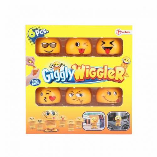 Toi-Toys Toi Toys Giggly Wigglerfeder Emojies gelb 6 teilig