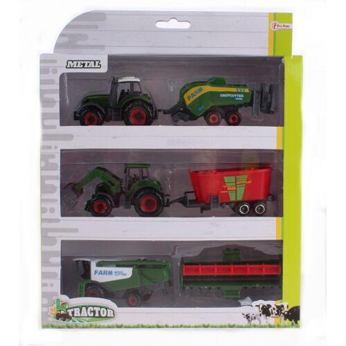 Toi-Toys Toi Toys Metalltraktor Set mit Rasenmäher grün 16 cm
