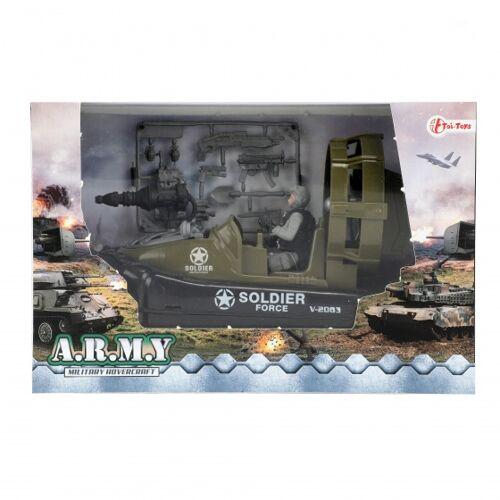Toi-Toys Toi Toys militärspiel Set Motorboot braun