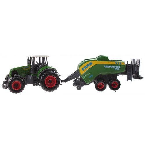 Toi-Toys Toi Toys traktor mit Anhänger 22 cm Mähdrescher grün