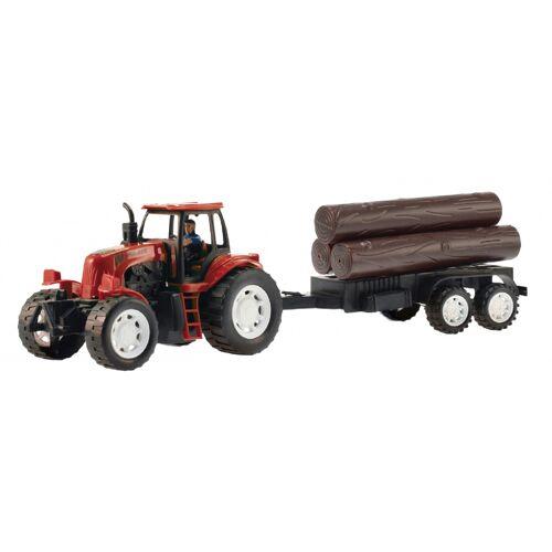 Toi-Toys Toi Toys traktor mit Baumstamm rot 42 cm