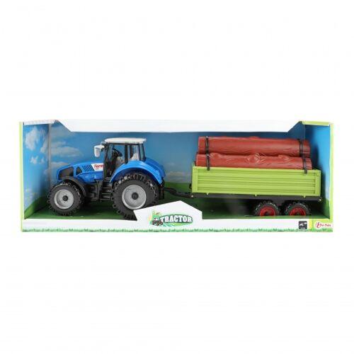 Toi-Toys Toi Toys zugmaschine mit blauem Auflieger 20 cm