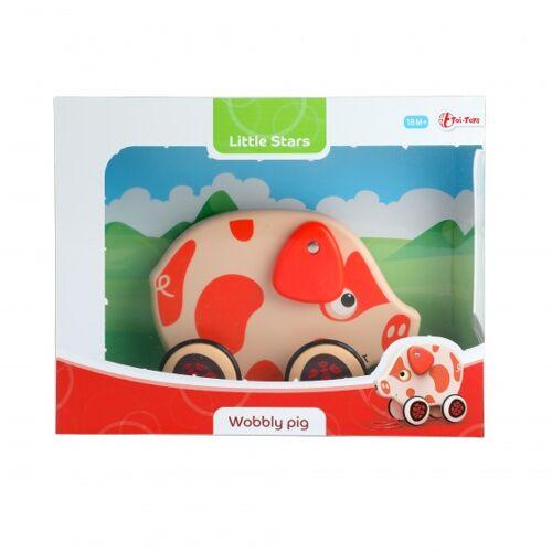Toi-Toys Toi Toys zugfigur Schwein rot 15 cm