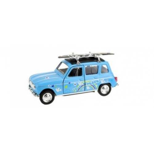 Toi-Toys Toi Toys Welly Renault 4 mit Surfbrett blau 12 cm