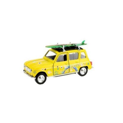 Toi-Toys Toi Toys Welly Renault 4 mit Surfbrett gelb 12 cm