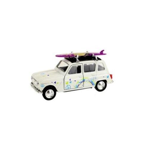 Toi-Toys Toi Toys Welly Renault 4 mit Surfbrett weiß 12 cm