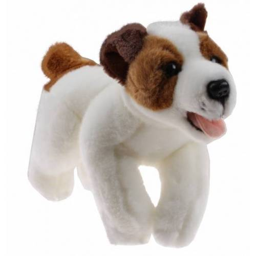 TOM kuscheliger Hund 23 cm weiß/braun