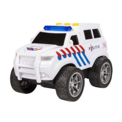 112 Serie polizeiauto mit Licht & Ton Junior 18 x 10,5 cm weiß