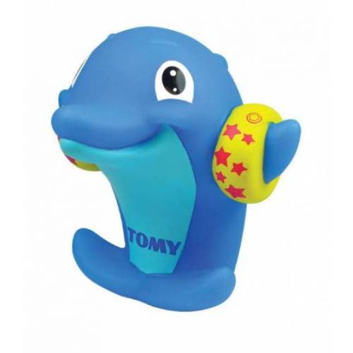 Tomy wasserpfeife Delphin junior 15 x 12 x 10 cm Gummi blau