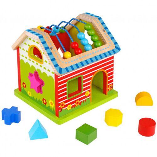 Tooky Toy aktivitätshaus Junior 21,5 cm Holz 8 teilig
