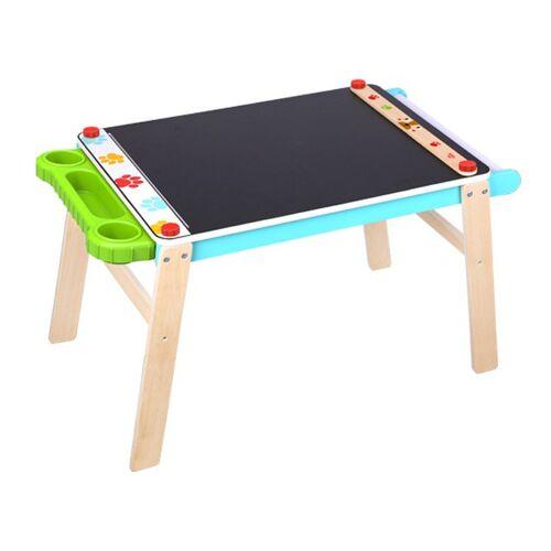 Tooky Toy kreidezeichentisch Junior 86,7 x 50 cm Holz blau/grün