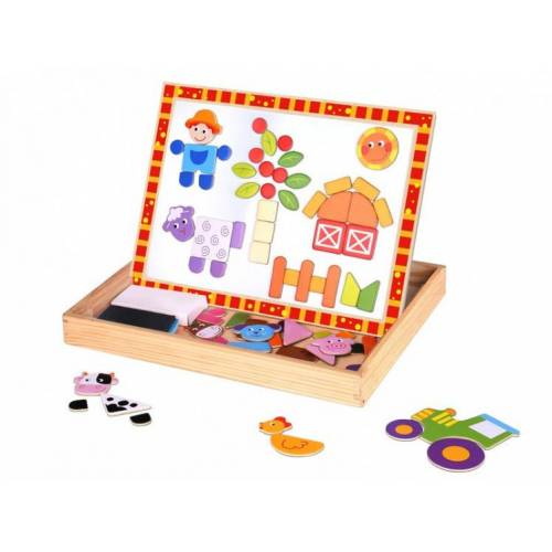 Tooky Toy magnetpuzzle junior 29,5 x 22 cm Holz orange/weiß