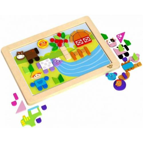 Tooky Toy magnetpuzzle Junior 36 cm Holz 85 teilig