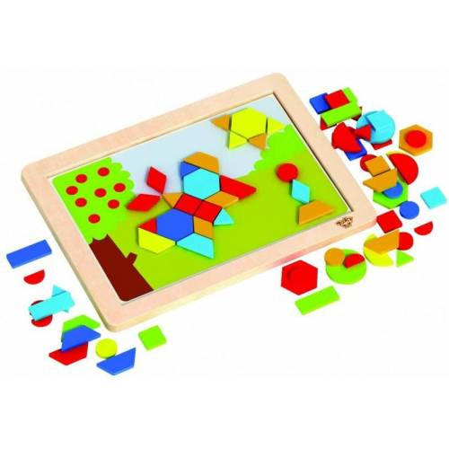 Tooky Toy magnetpuzzle Junior 38 cm Holz 74 teilig