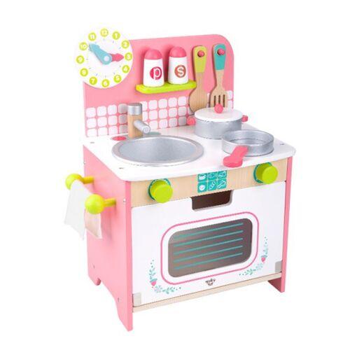 Tooky Toy spielzeug Küchenmädchen 34 x 43 cm Holz rosa 10 teilig